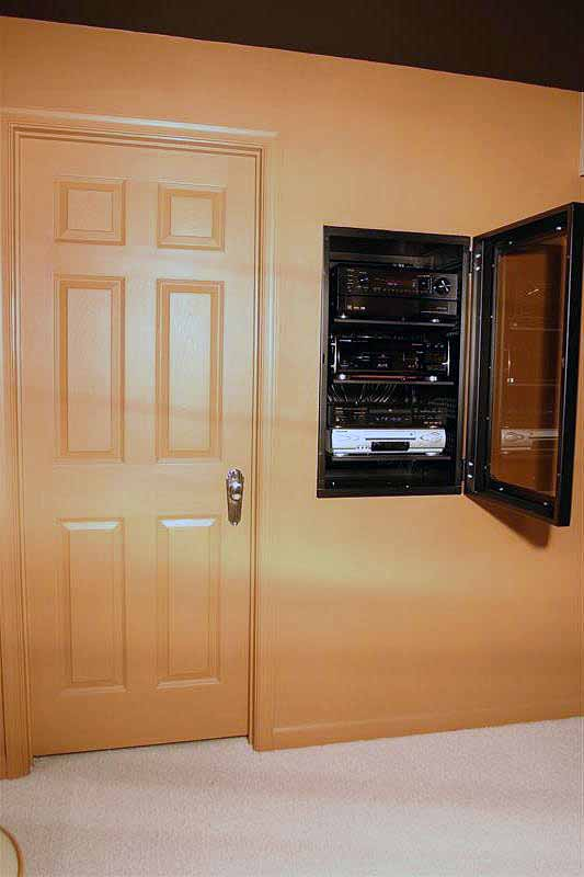 Anyone Build In Wall Rack Gl Door For Centralized A V Gear Avs Forum Home Theater Discussions And Reviews